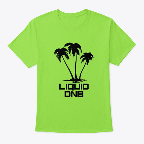 Liquid Drum And Bass Beach Palm Tree Lime T-Shirt Front