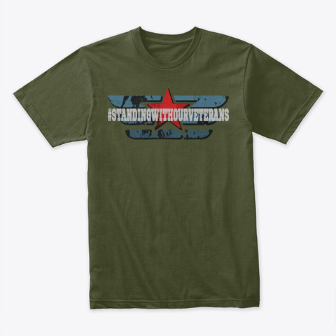 Veteran Supporter Military Green T-Shirt Front