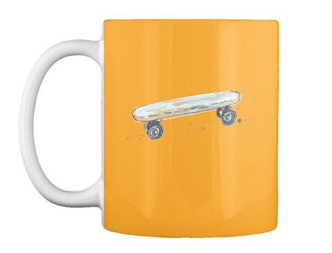 My First Skateboard Mug Athletic Gold Mug Front