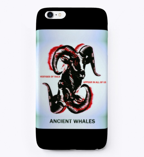 Ancient Whales Merch Black T-Shirt Front