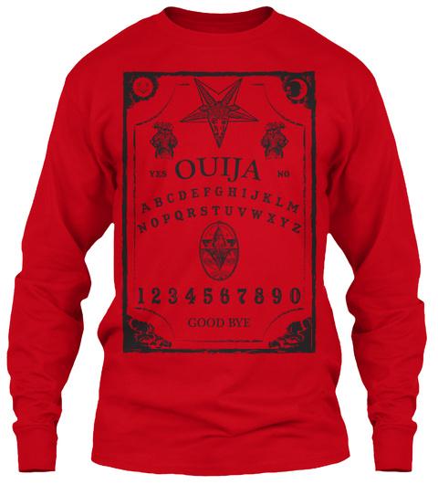 Yes Ouija No A B C D E F G H I J K L M N O P Q R S T U V W X Y Z 1 2 3 4 5 6 7 8 9 0 Good Bye Red T-Shirt Front