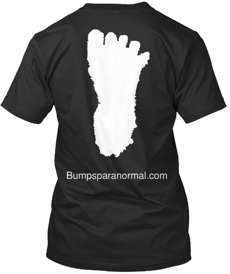 Bumpsparanormal.Com Black T-Shirt Back