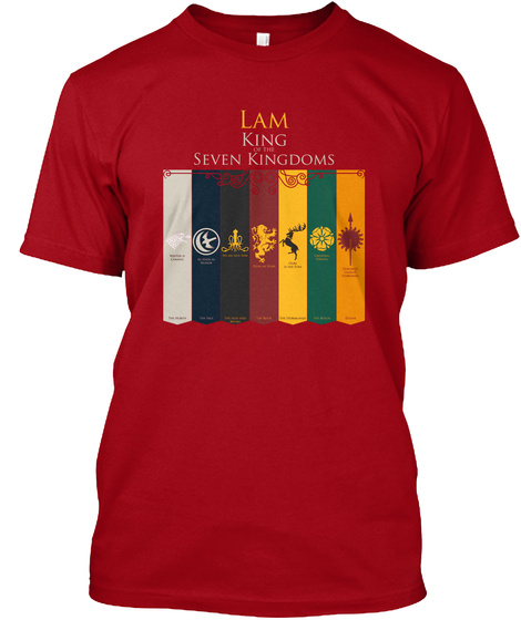 Lam Family House   Lion Deep Red T-Shirt Front
