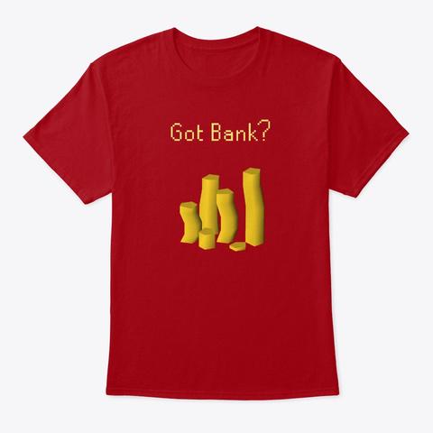 Got Bank? Runescape Deep Red T-Shirt Front