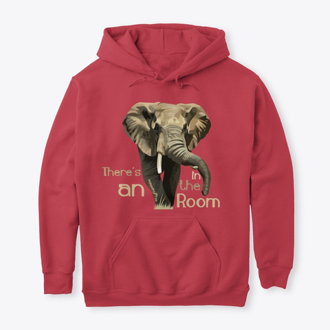 There's An Elephant In The Room Cardinal Red T-Shirt Front