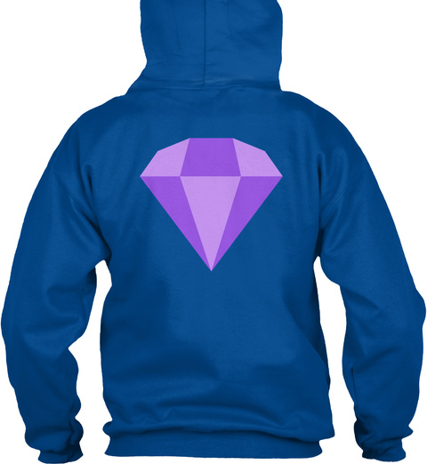 Got To Go Fast With Emerald Hoodie Royal T-Shirt Back