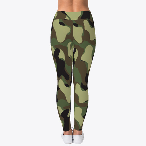 Camouflage Pattern Leggings Black T-Shirt Back