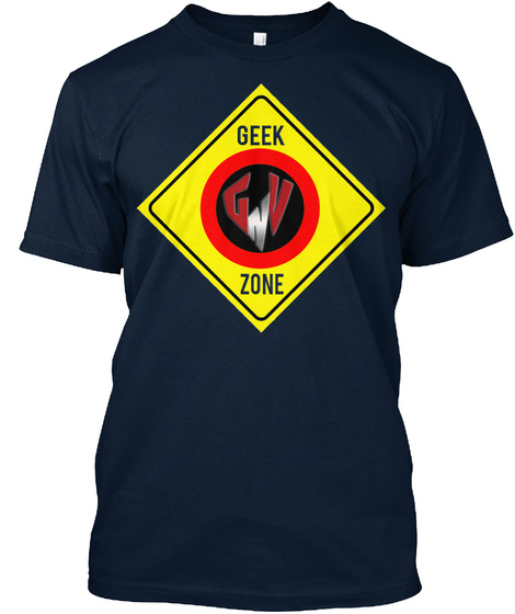 Geek Zone New Navy T-Shirt Front