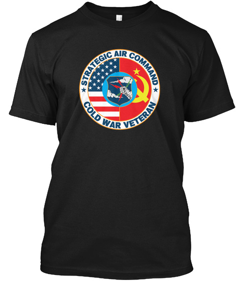 Strategic Air Command Cold War Veteran Black Camiseta Front