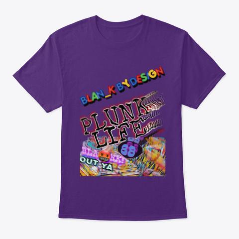 Plunk For Da City Purple T-Shirt Front