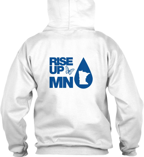 Rise Up Mn White T-Shirt Back