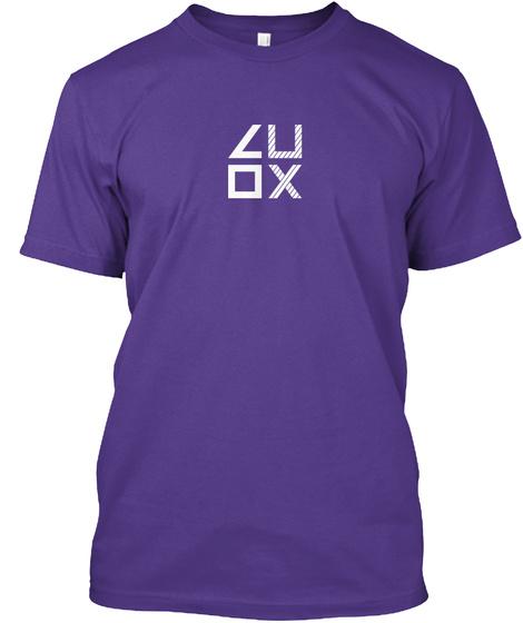 Luox C U O X Purple T-Shirt Front