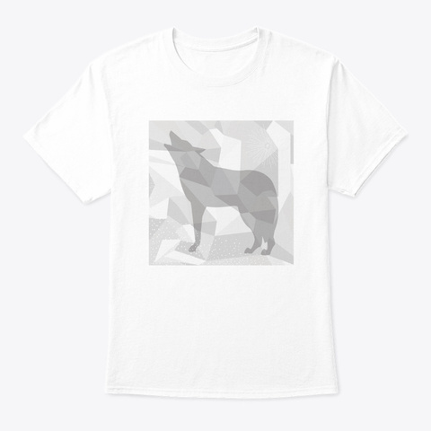 Camouflage Wolf White T-Shirt Front