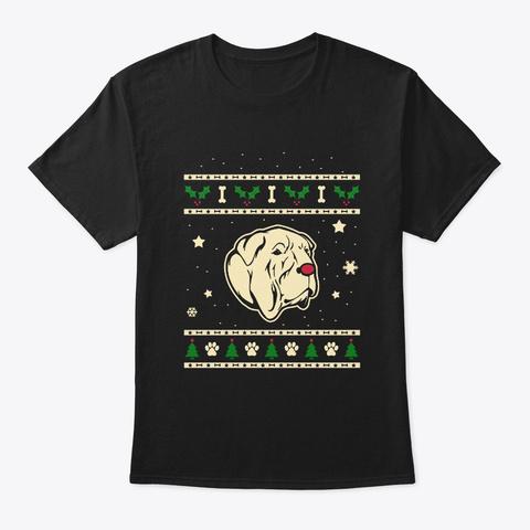 Christmas Bully Kutta Gift Black T-Shirt Front