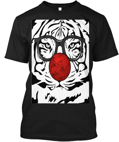 Tiger Clown Black T-Shirt Front