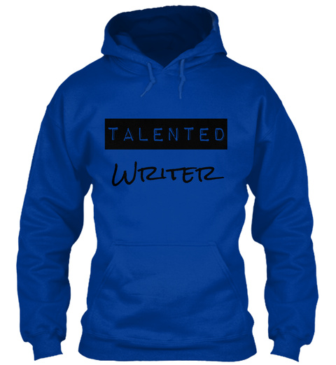 Talented Writer Royal Blue T-Shirt Front