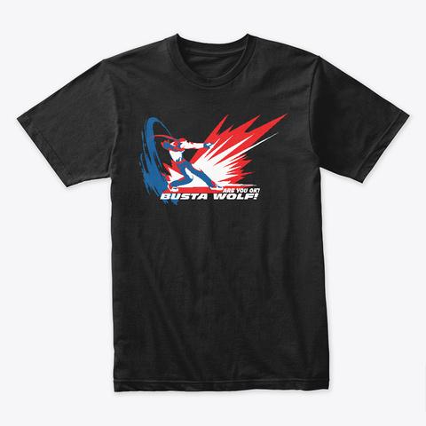 Busta Wolf Black T-Shirt Front