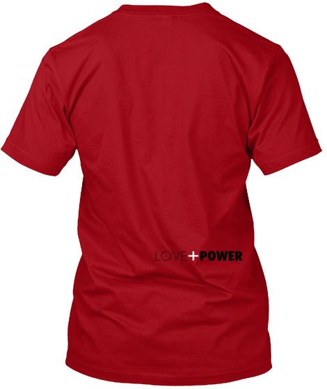 Love+Power Deep Red T-Shirt Back