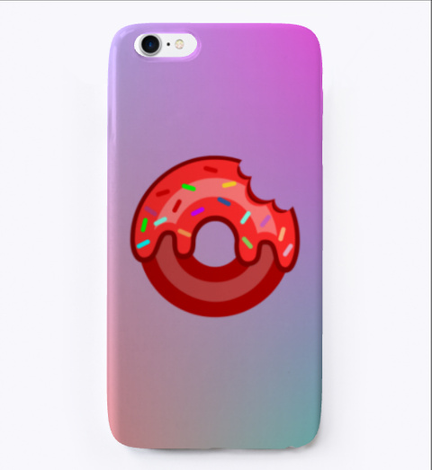 Pink Donut In Unicorn Background