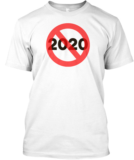 2020 White T-Shirt Front