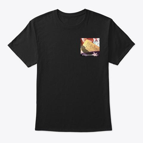 Real News Channel.Com Free Press Shirt Black T-Shirt Front
