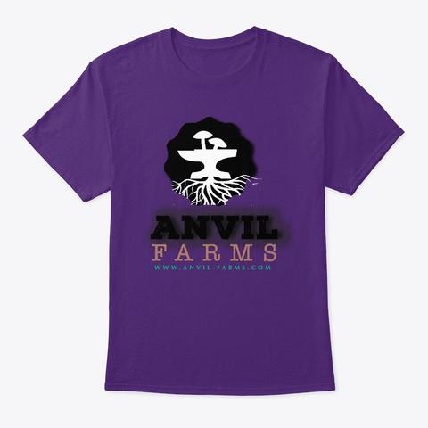 Original Anvil Farms Logo Design Purple T-Shirt Front