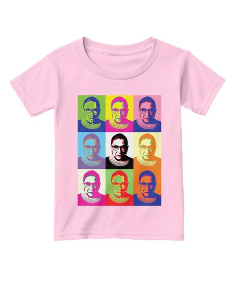 Notorious Rbg Pop Toddler T Shirt Light Pink  T-Shirt Front