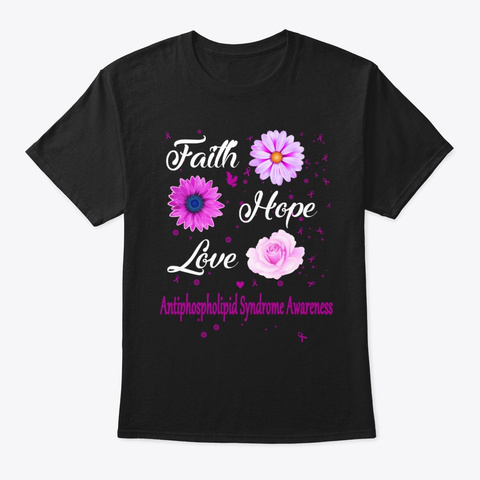Antiphospholipid Syndrome Awareness Black T-Shirt Front