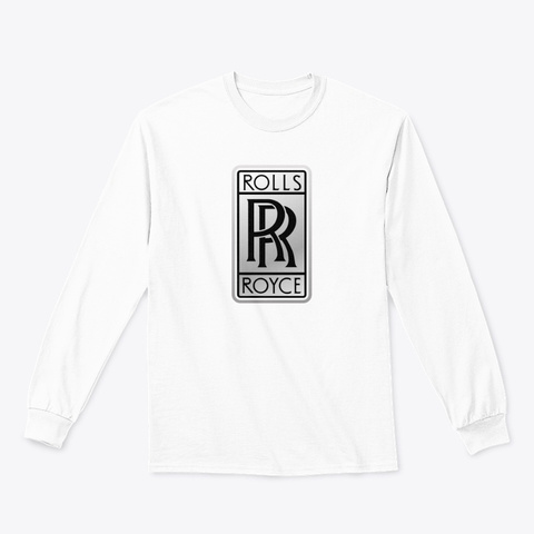 Rolly Royce Logo Products White T-Shirt Front