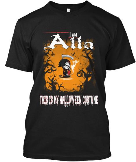 Alla Halloween Costume Black T-Shirt Front