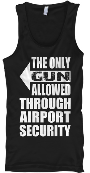 The Only Gun Allowed   Tank   Righty Black T-Shirt Front