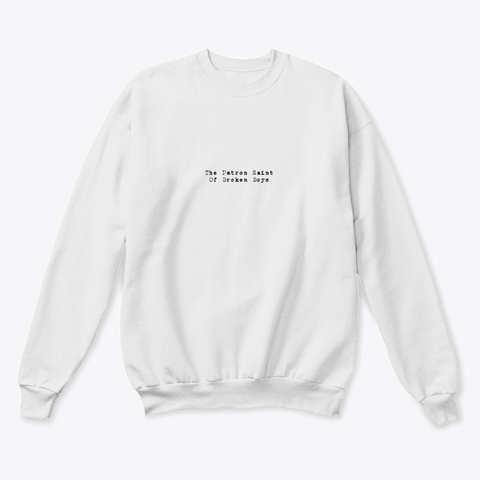 Your Dad's Daydreams Lyrics Sweatshirt White  T-Shirt Front