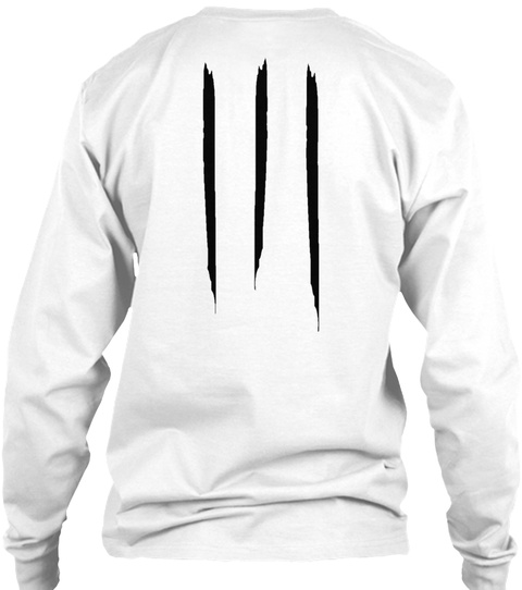 Promotion Long Sleeve Tee White Camiseta Back