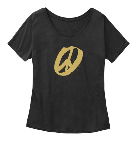 Peace Symbol By Closet Hippie Black T-Shirt Front