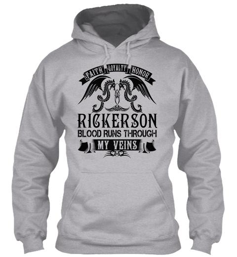 Rickerson   My Veins Name Shirts Sport Grey T-Shirt Front