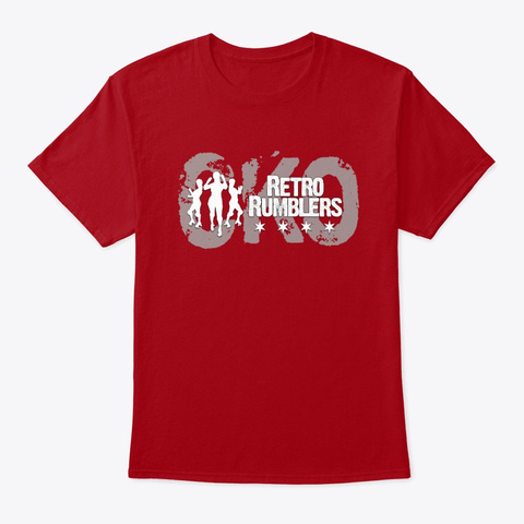 Cko Rumblers Logo Deep Red T-Shirt Front