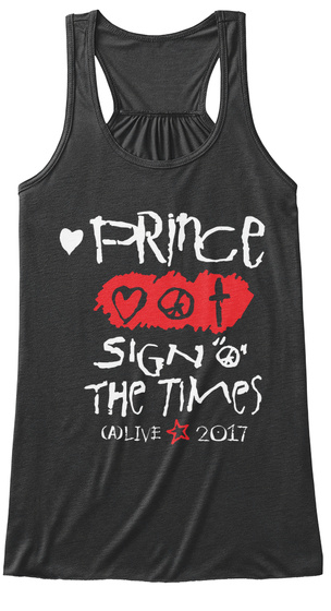 Prince Sign The Times A Live 2017 Dark Grey Heather Women's Tank Top Front