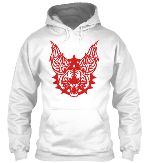 Tiger Wing Logo Ferocious Wild Animal 70 White T-Shirt Front