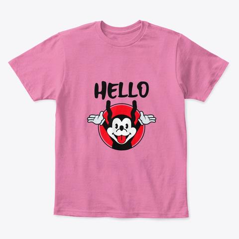 Funny Kids T Shirt  True Pink  T-Shirt Front
