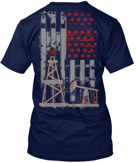 Limited Edition   Oil Riggers Tee Navy T-Shirt Back