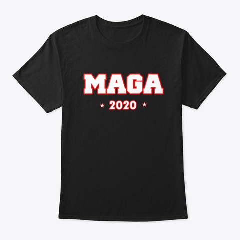 Maga Country Trump 2020 Rally  Tee Black T-Shirt Front
