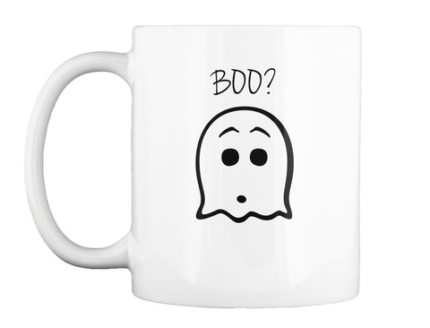 Boo? White Mug Front