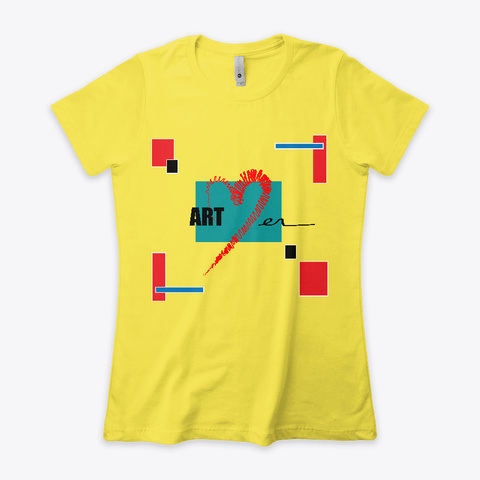 Art Lover | Colourful | Design |  Vibrant Yellow T-Shirt Front