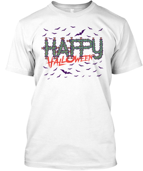 Happy Halloween White T-Shirt Front