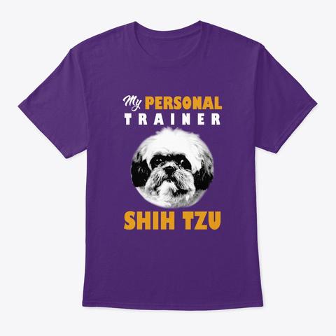 Personal Trainer Is Shih Tzu T Shirt Purple T-Shirt Front