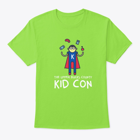 The Upper Bucks County Kid Con Shirts Lime T-Shirt Front
