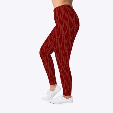 Paddles In Dark Red Leggings Dark Red T-Shirt Left