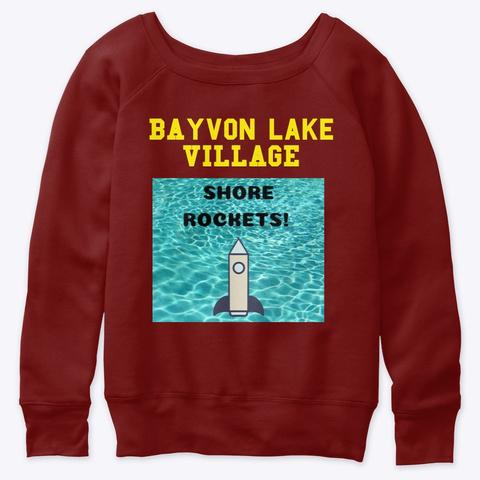 Bayvon Lake Village   Alumni Collection Dark Red Triblend T-Shirt Front
