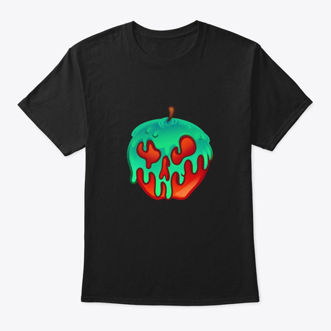 Poison Apple  Halloween Black T-Shirt Front