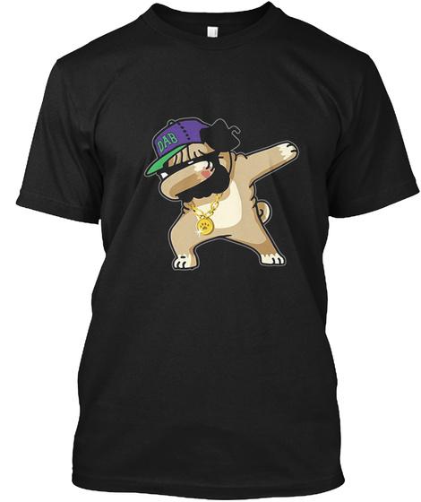 Dabbing Pug T Shirt Black T-Shirt Front